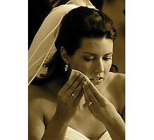 Bridal Tears Photographic Print
