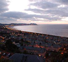 Wales, Colwyn Bay, Night Light, Sea by JImage
