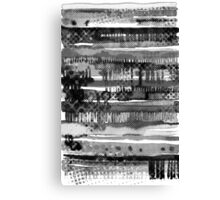 Black & White Lines Canvas Print