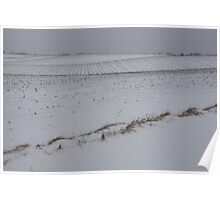 Fertile Farm Fields Sleeping Under the Snow Poster
