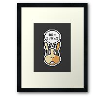 """Peppy Says """"How To Do A Barrel Roll"""" Framed Print"""