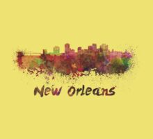 New Orleans skyline in watercolor Kids Clothes