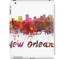 New Orleans skyline in watercolor iPad Case/Skin