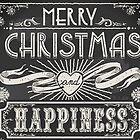 Merry Christmas Vintage Blackboard by aurielaki