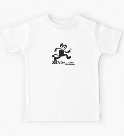 Bendy The Dancing Demon (With Tail) Kids Tee