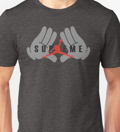 slum dunk jordan in hand supreme black Unisex T-Shirt