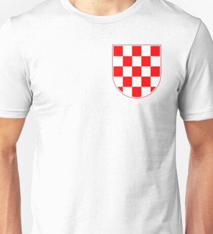 Croatian Checkerboard, Croatia, Coat of Arms Unisex T-Shirt