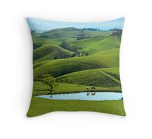 Dairy country Throw Pillow