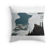 Ice Breakup Throw Pillow