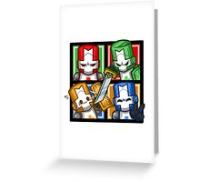 Castle Crashers Four-Square Greeting Card