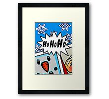 Pop Art Ho Ho Ho Framed Print