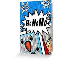 Pop Art Ho Ho Ho Greeting Card