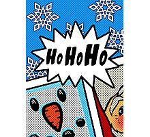 Pop Art Ho Ho Ho Photographic Print