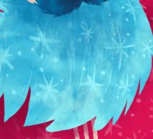 Snowboarding Christmas Sticker