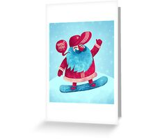 Snowboarding Christmas Greeting Card