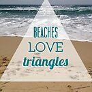 Beaches love triangles by annamoreganna