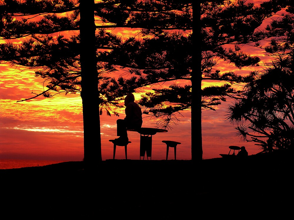 Pondering Under an Orange Sky by Josh Meggs