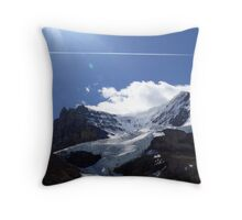 Snow Capped Canadian Rockies Throw Pillow