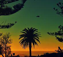 Blue & Orange Beach by LlandellaCauser