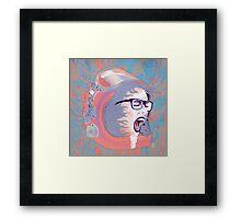 Space Astronaut Girl Framed Print