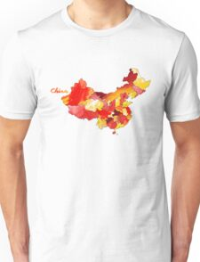 Watercolor Countries - China Unisex T-Shirt
