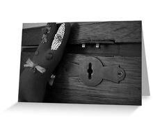 Box & Rabbit Greeting Card