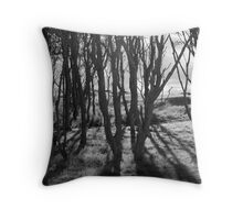 Trees at Kingsbarns Throw Pillow