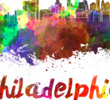 Philadelphia skyline in watercolor Sticker