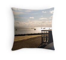 Southend Beach Throw Pillow