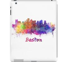 Boston skyline in watercolor iPad Case/Skin