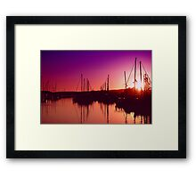 Marina Sunset Framed Print