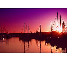 Marina Sunset Photographic Print