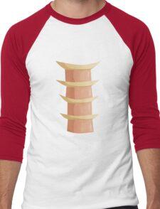 Glitch Ix Land  ladder tile center 01 spine Men's Baseball ¾ T-Shirt