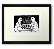 Game of chess Framed Print