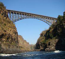 Bridge connecting Zambia and Zimbabwe by DanielleR