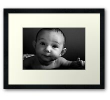 """""""Excuse Me, for just one minute."""" Framed Print"""