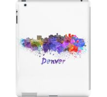 Denver skyline in watercolor iPad Case/Skin