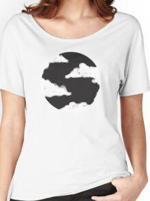 Moon Cloud, Black Night Sky Women's Relaxed Fit T-Shirt