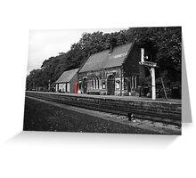 Peak Railway station darley dale red telephone box  Greeting Card