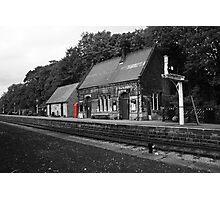 Peak Railway station darley dale red telephone box  Photographic Print