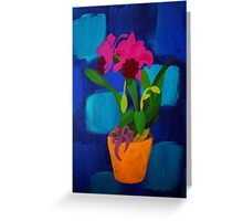 Funky orchid Greeting Card