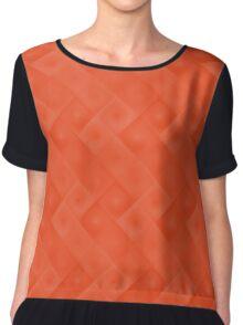 Pantone Flame Orange Pattern F04 Spring Color 2017 Chiffon Top