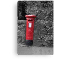 Post box in wall darley dale peak district Canvas Print