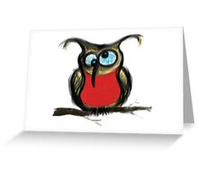 Drunk Owl Greeting Card
