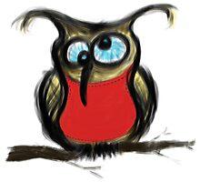 Drunk Owl Photographic Print