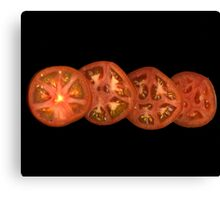 Whole sliced tomato Canvas Print