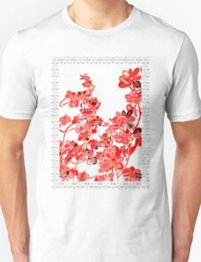 TSHIRT RED FLOWERS Unisex T-Shirt