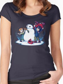 Do you wanna build a Snow max? Women's Fitted Scoop T-Shirt