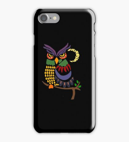 Cool Artistic Colorful Owl Abstract Art Original iPhone Case/Skin