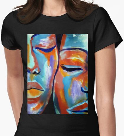 """""""At rest"""" Womens Fitted T-Shirt"""
